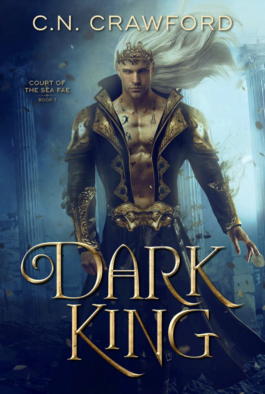Dark King by C.N. Crawford - A Book Review #BookReview #UF #PNR #Dystopian #Fae #Romance #Paranormal #Magic #4Stars #KindleUnlimited #KU