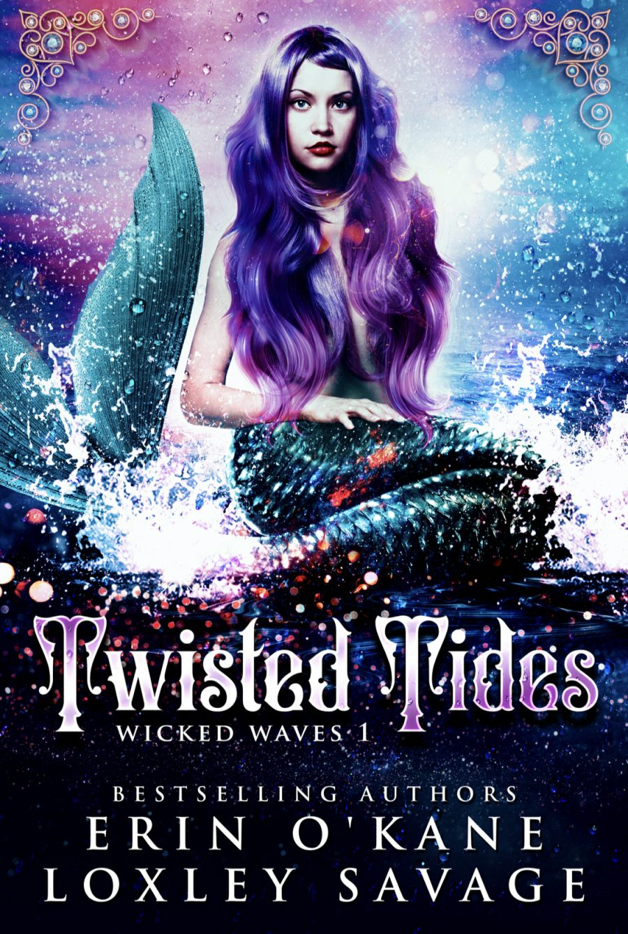 Twisted Tides by Erin O'Kane & Loxley Savage - A Book Review #BookReview #FastBurn #ReverseHarem #RH #WhyChoose #Fantasy #PNR #Dark #Mermaids #Kraken #4Stars