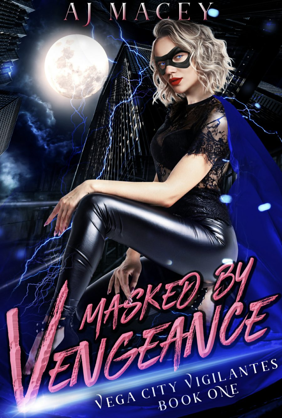 Masked by Vengeance by A.J. Macey - A Book Review #BookReview #FastBurn #ReverseHarem #RH #WhyChoose #SuperHero #Mystery #Cliffhanger #KindleUnlimited #KU