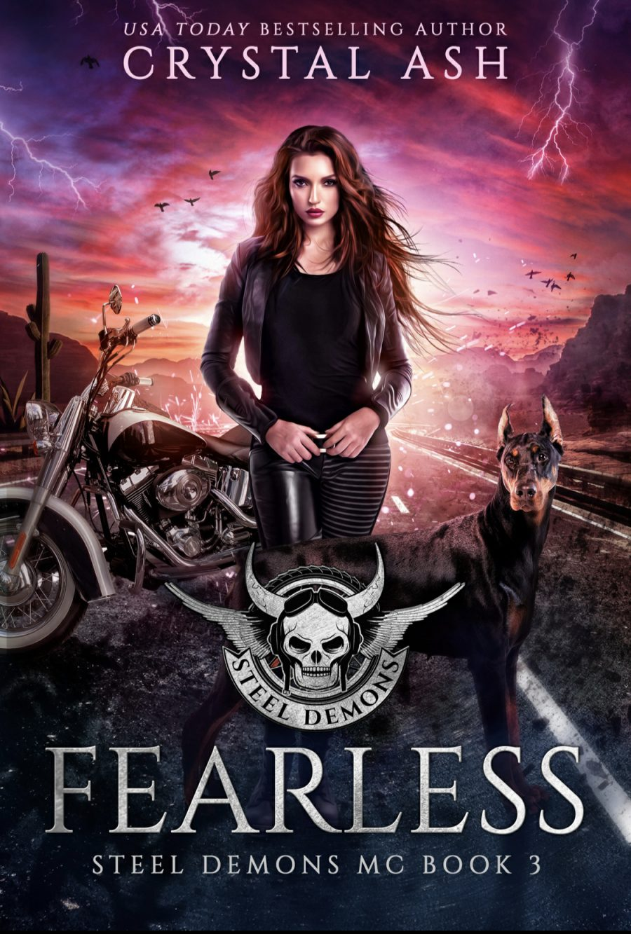 Fearless (Steel Demons MC - Book 3) by Crystal Ash - A Book Review #BookReview #Dystopian #SlowBurn #RH #4Stars #KindleUnlimited #KU