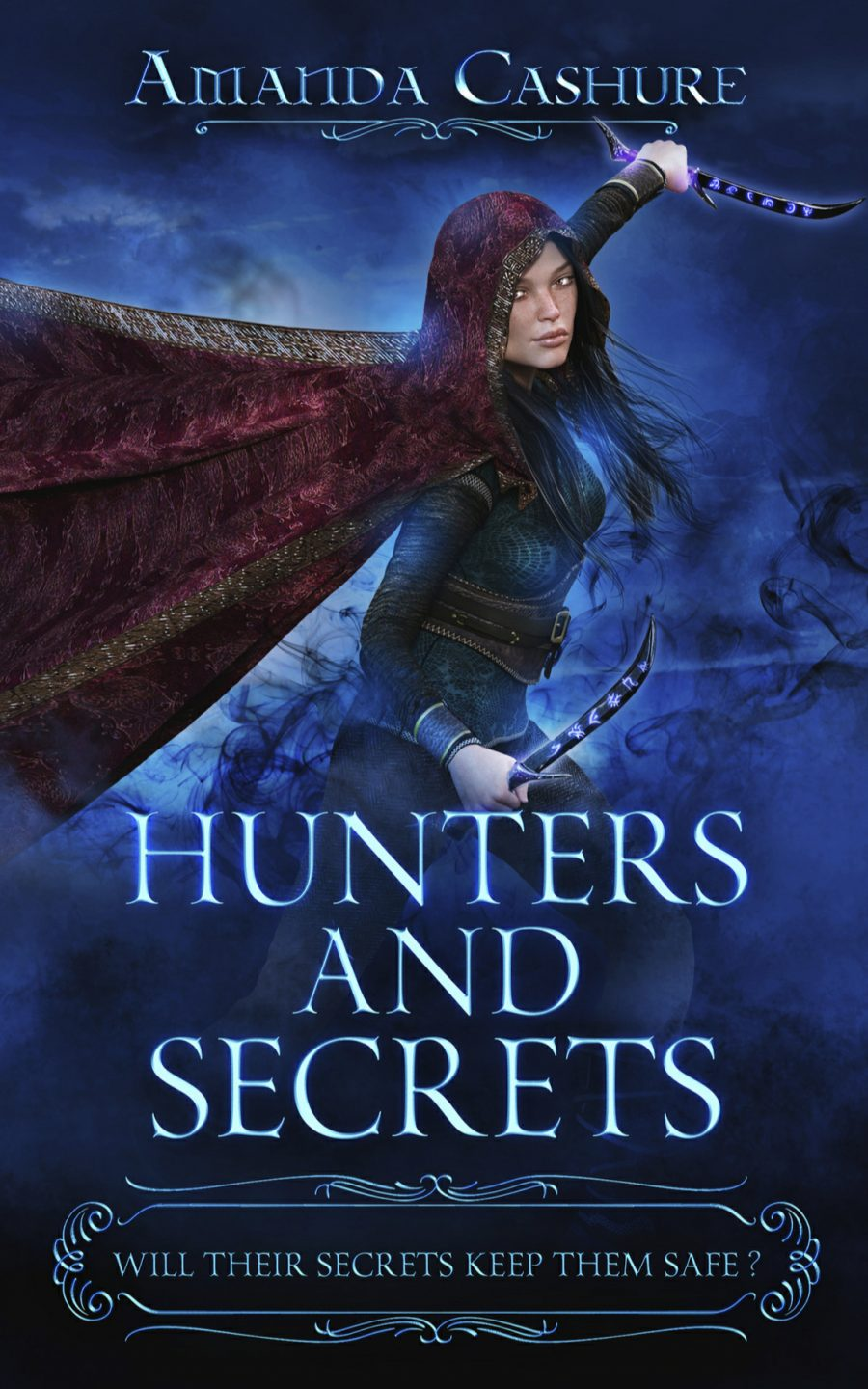 Hunters and Secrets (Book 1) by Amanda Cashure - A Book Review #BookReview #Fantasy #SlowBurn #RH #SlowBuild #Dark #KindleUnlimited #KU #5Stars