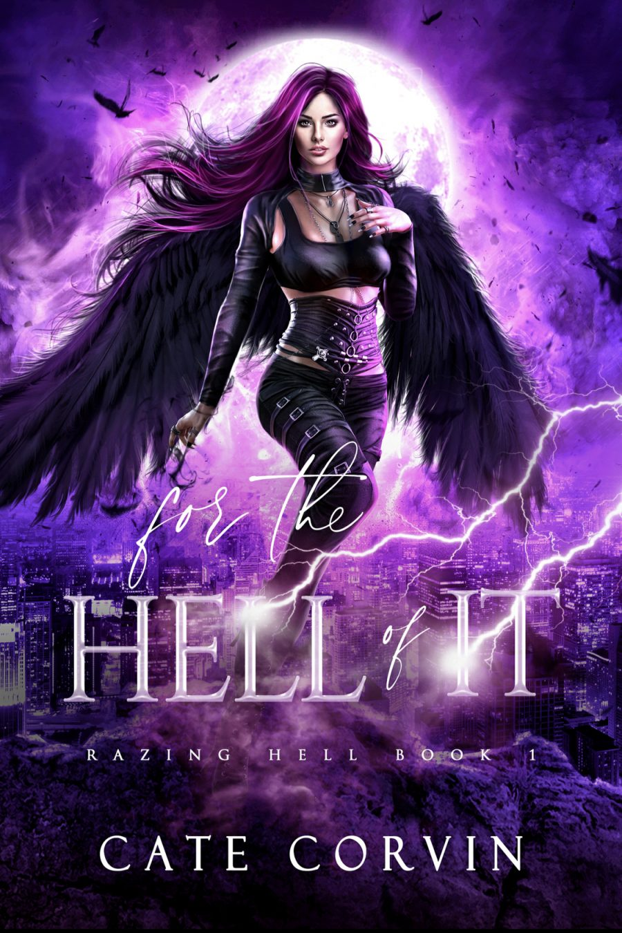 For the Hell of It (Razing Hell - Book 1) by Cate Corvin - A Book Review #BookReview #Fantasy #RH #FastBurn #KindleUnlimited #KU