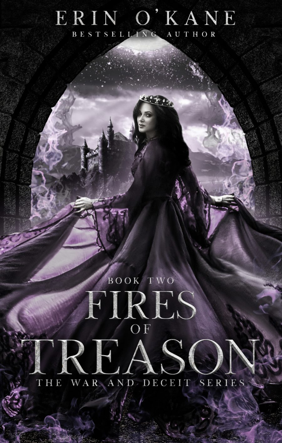 Fires of Treason (The War and Deceit Series - Book 2) by Erin O'Kane - A Book Review #BookReview #4Stars #SlowBurn #Fantasy #RH #KU