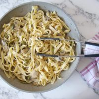 Tagliatelle with Asparagus and Mushroom
