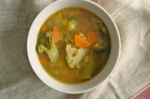red lentil soup with vegetables