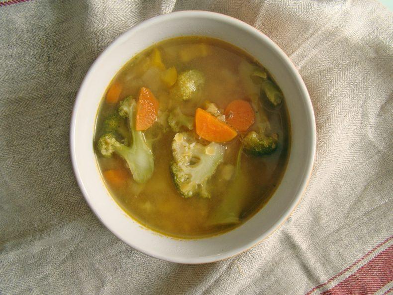 red lentil soup with vegetables