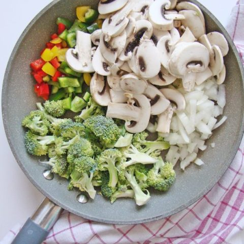 Vegetable Stir-Fry with Chinese Egg Noodles