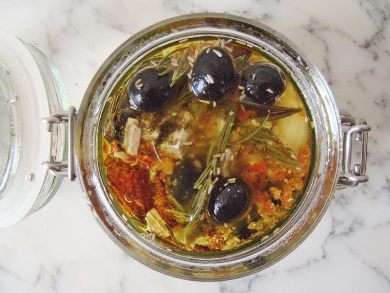 How To: Marinated Olives and Feta Cheese