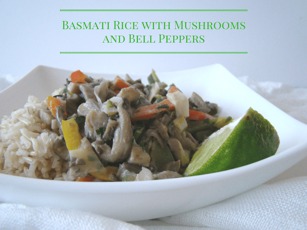 Basmati Rice with Mushrooms and Bell Peppers