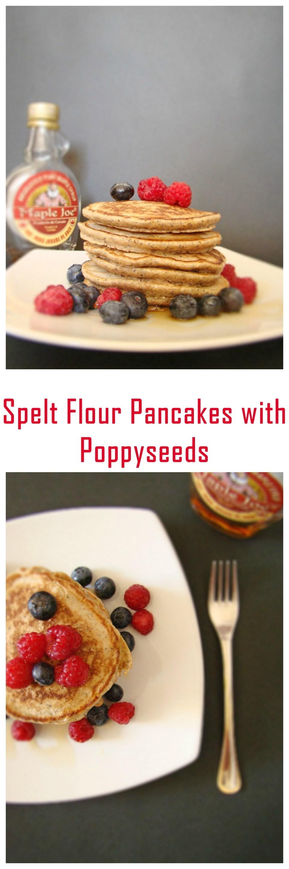 Spelt Flour Pancakes with Poppyseeds