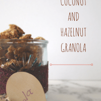 Coconut and Hazelnut Granola