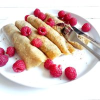 Nutella and Raspberry Crêpes