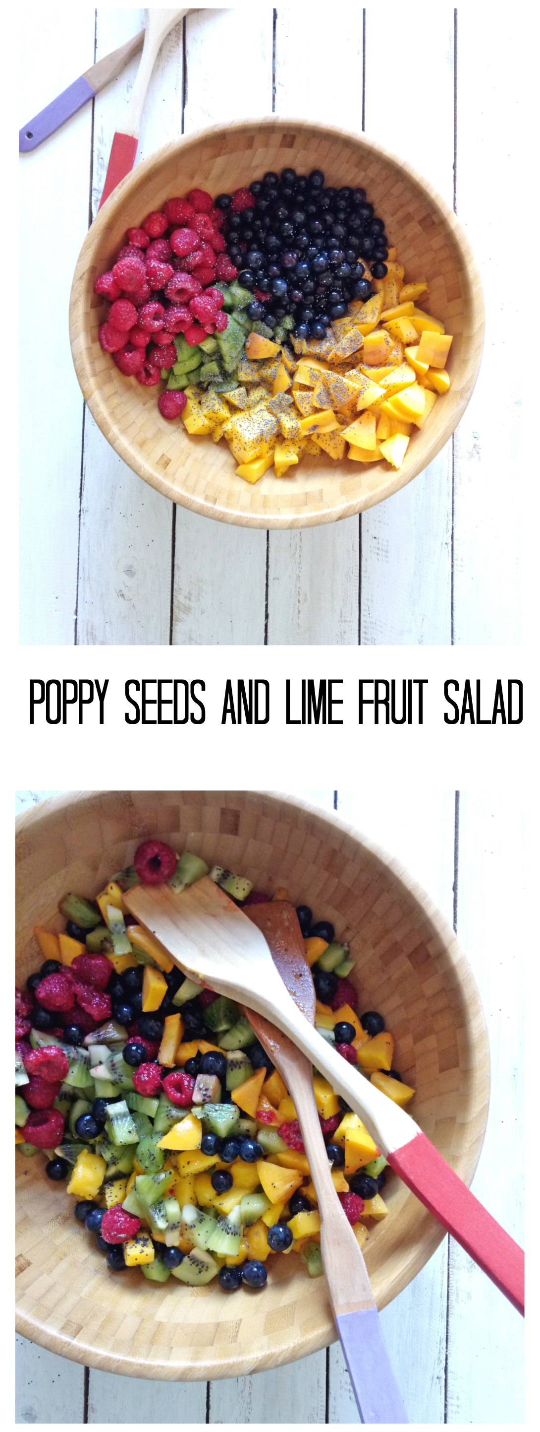 Poppy Seeds and Lime Fruit Salad