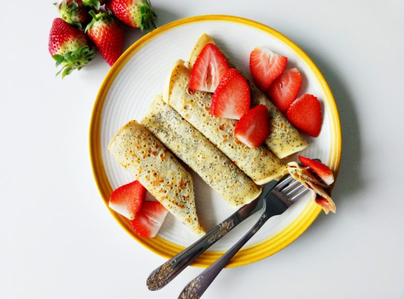 Lemon Poppy Seed Crepes