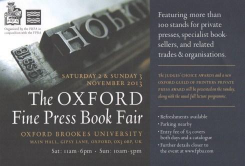 Oxford Fine Press Fair