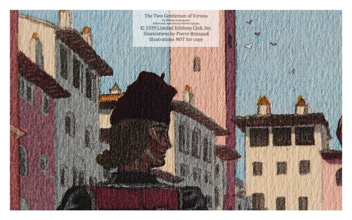 The Two Gentleman of Verona, Limited Editions Club, Macro of Frontispiece