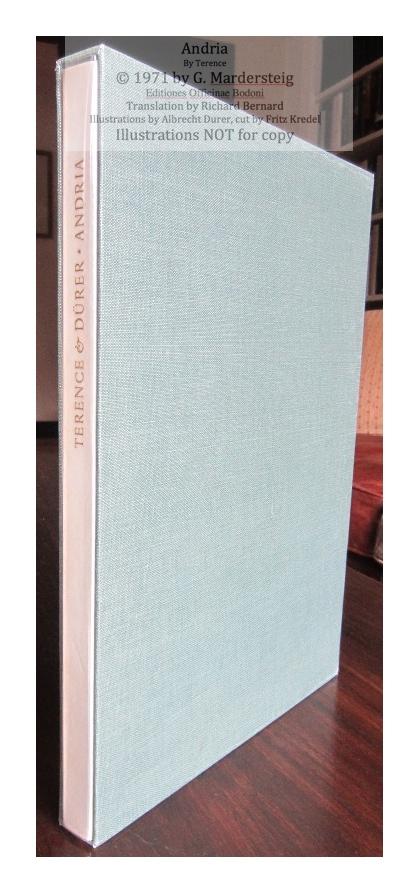 Andria, Editiones Officinae Bodoni, Book in Slipcase