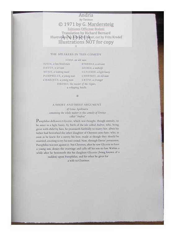 Andria, Editiones Officinae Bodoni, Sample Text #1