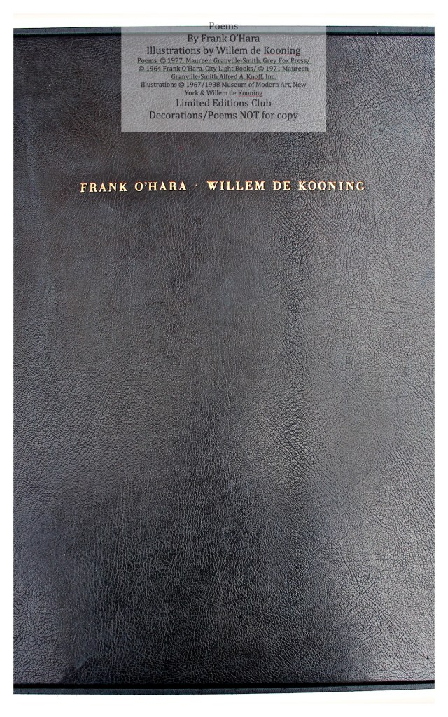 Poems of Frank O'Hara, Front Cover, Limited Editions Club