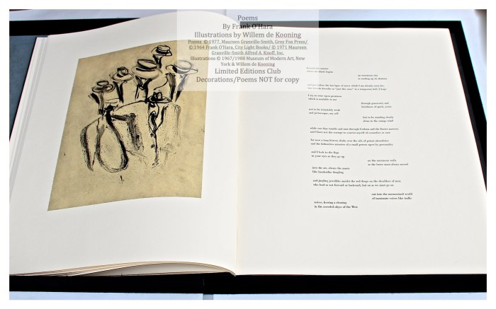 Poems of Frank O'Hara, Sample Text Page with Illustration #1, Limited Editions Club