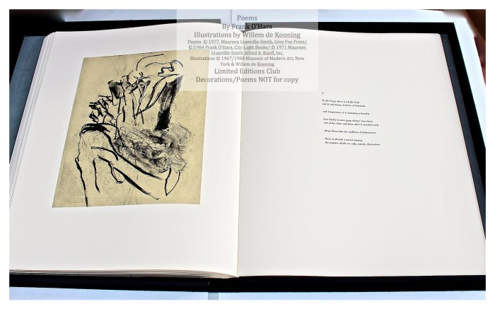 Poems of Frank O'Hara, Sample Text Page with Illustration #3, Limited Editions Club