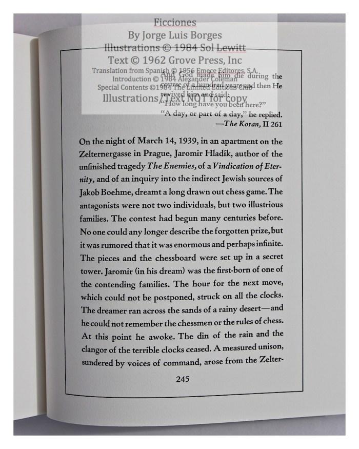 Ficciones, Limited Editions Club, Sample Text #5
