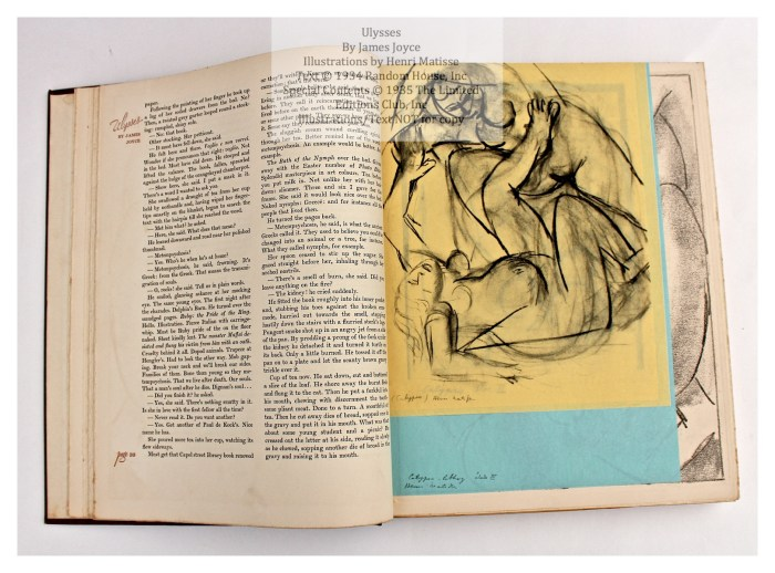 Ulysses, Limited Editions Club, Sample Illustration Group #1, 1 of 4