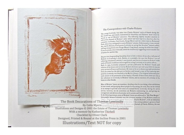 The Book Decorations of Thomas Lowinsky, Incline Press, Sample #2