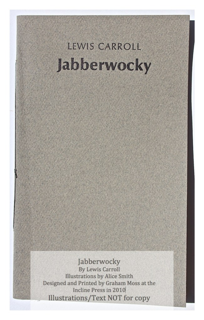 Jabberwocky, Incline Press, Cover