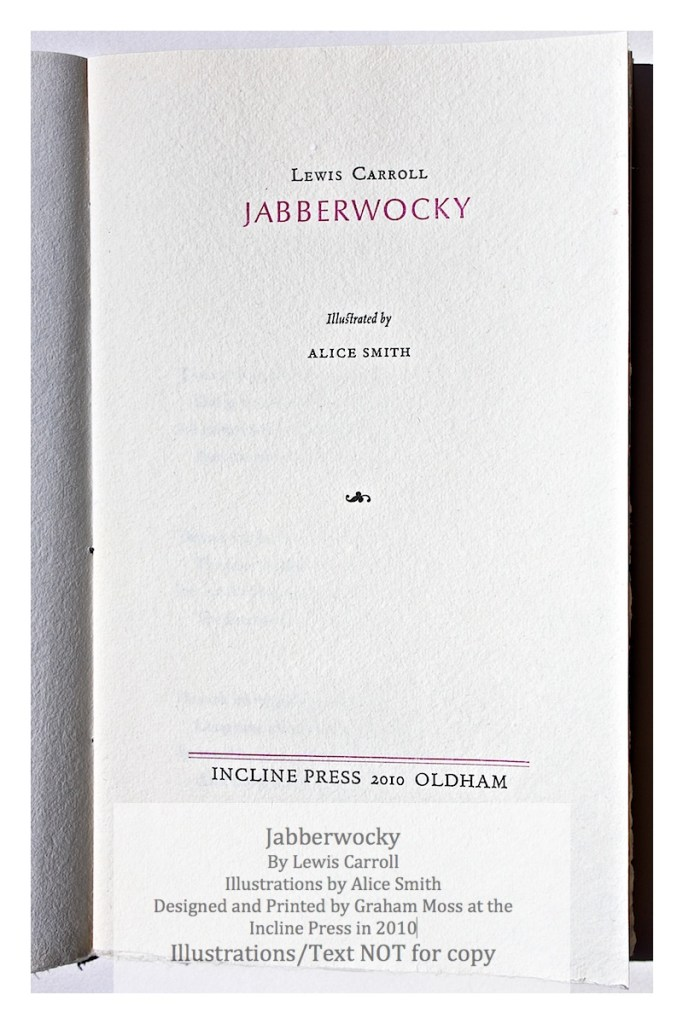 Jabberwocky, Incline Press, Title Page