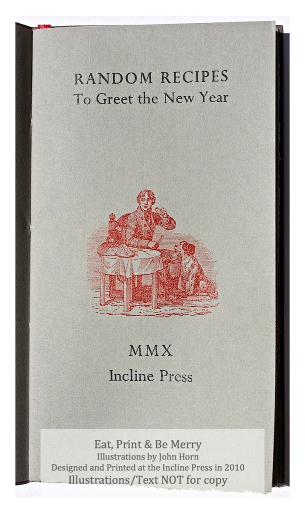 Eat, Drink & Be Merry, Incline Press, Title Page