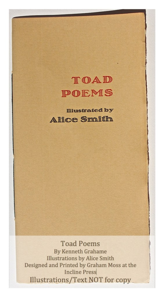 Toad Poems, Incline Press, Cover