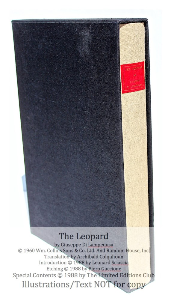 The Leopard, Limited Editions Club, Book in Slipcase