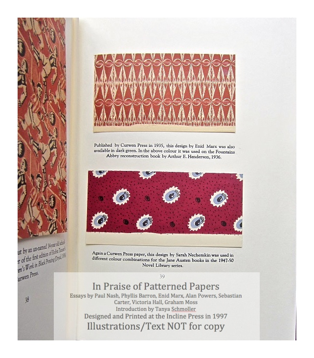 In Praise of Patterned Papers, Incline Press, Sample Papers #1 and text