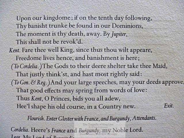 The Tragedie of King Lear, Janus Press/Theodore Press, Sample Text #2