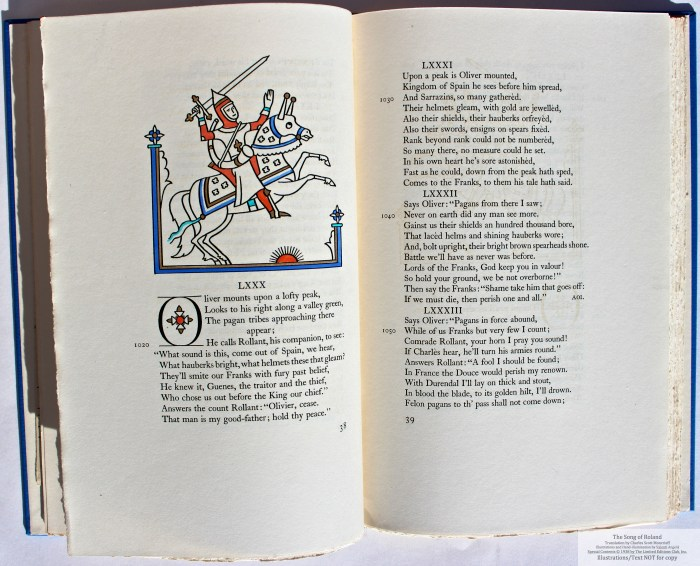 The Song of Roland, Limited Editions Club, Sample Illustration #4 with text