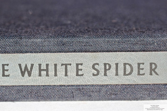 The White Spider, Limited Editions Club, Macro of Solander Box
