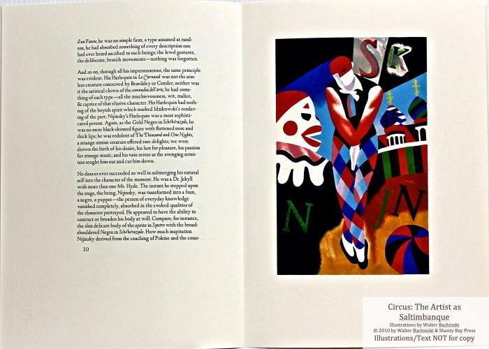 Shanty Bay Press, List of Illustrations, Sample Text #5 and Nijinsky pochoir