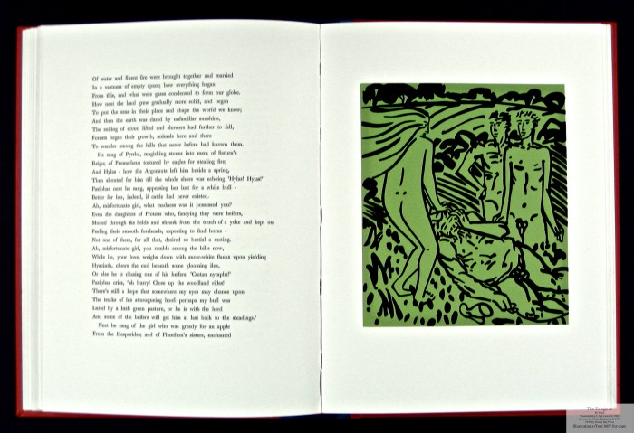 Eclogues, Shanty Bay Press, Sample Linocut #8 and Text