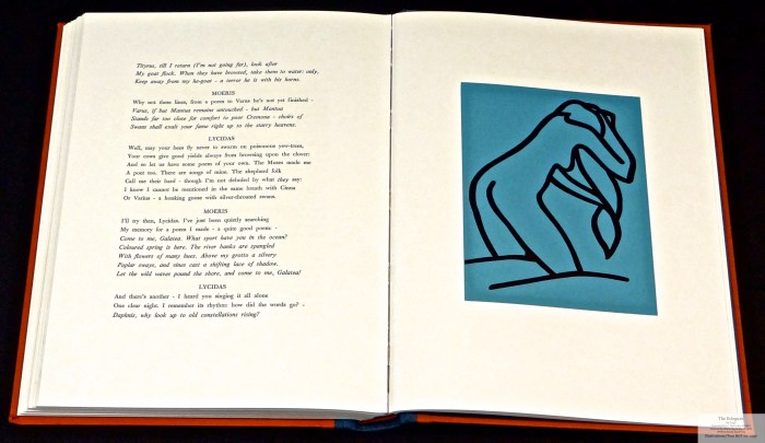 Eclogues, Shanty Bay Press, Sample Linocut #11 and Text