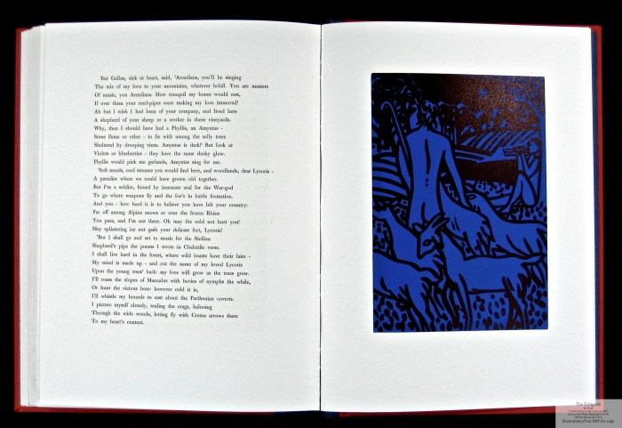 Eclogues, Shanty Bay Press, Sample Linocut #12 and Text