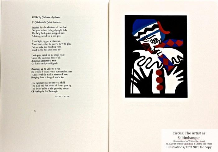 Shanty Bay Press, List of Illustrations, Nijinsky lino