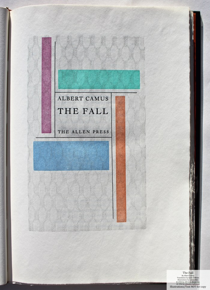 The Fall, Allen Press, Title Page