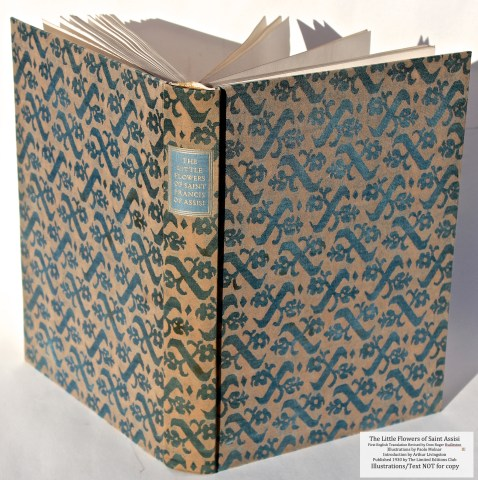 The Little Flowers of Saint Francis of Assisi, Limited Editions Club, Spine and Covers