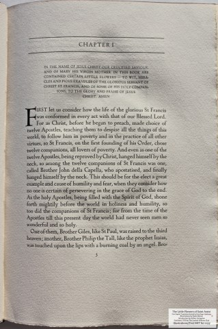 The Little Flowers of Saint Francis of Assisi, Limited Editions Club, Sample Text #2
