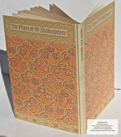 Richard III, Limited Editions Club, Spine and Cover