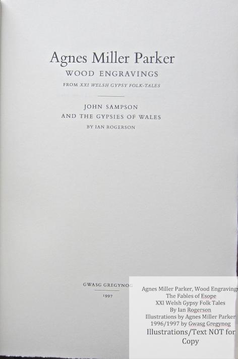 Agnes Miller Parker Wood-Engravings (Esope), Gregynog Press, Title Page