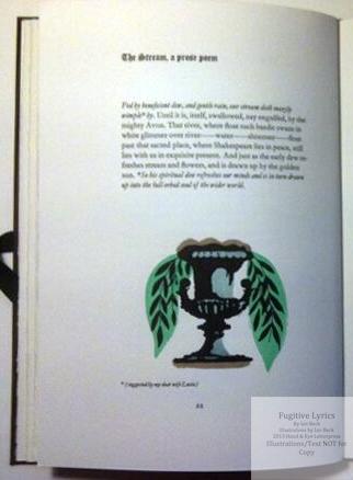 Fugitive Lyrics, Hand & Eye Letterpress, Hand Colored sample illustration #3 from Deluxe edition