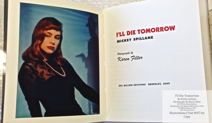 I'll Die Tomorrow, Peter Kock Printers, Frontispiece and Title Page