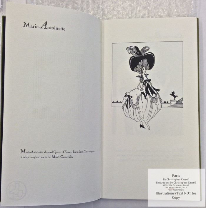 Paris, Peter Koch Printers, Sample Illustration #1 with text